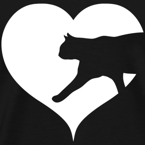 Cat Heart Kitten Love Cats Animal Love - Men's Premium T-Shirt