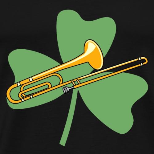 Shamrock Trombone - Men's Premium T-Shirt