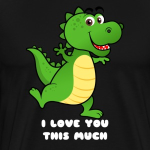 Cute Dino I love you this much - Men's Premium T-Shirt