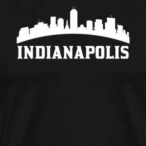 Vintage Style Skyline Of Indianapolis IN - Men's Premium T-Shirt