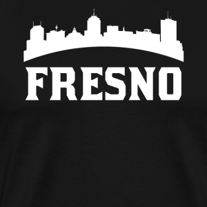Vintage Style Skyline Of Fresno CA - Men's Premium T-Shirt