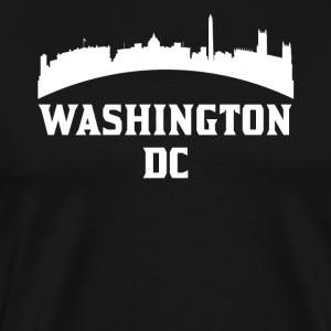 Vintage Style Skyline Of Washington DC - Men's Premium T-Shirt