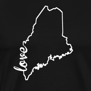 Maine Love State Outline - Men's Premium T-Shirt