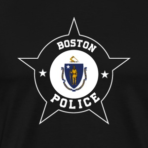 Boston Police T Shirt - Massachusetts flag - Men's Premium T-Shirt