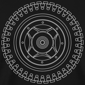 CT70 Wheel - Wireframe White - Men's Premium T-Shirt