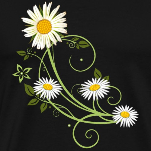 Tendril with Marguerite and daisies - Men's Premium T-Shirt