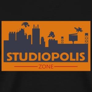 sonic mania studiopolis - Men's Premium T-Shirt