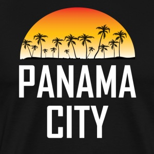 Panama City Florida Sunset Palm Trees Beach - Men's Premium T-Shirt