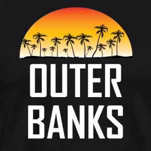 Outer Banks NC Sunset And Palm Trees Beach - Men's Premium T-Shirt