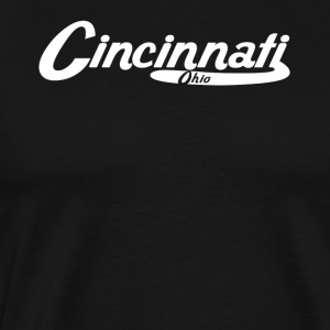 Cincinnati Ohio Vintage Logo - Men's Premium T-Shirt