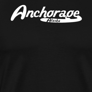 Anchorage Alaska Vintage Logo - Men's Premium T-Shirt