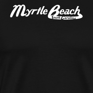 Myrtle Beach South Carolina Vintage Logo - Men's Premium T-Shirt