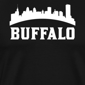 Vintage Style Skyline Of Buffalo NY - Men's Premium T-Shirt