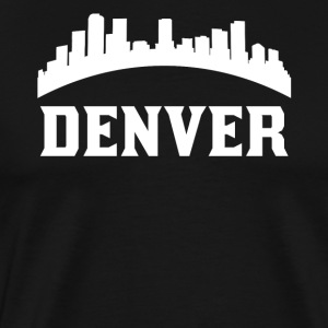 Vintage Style Skyline Of Denver CO - Men's Premium T-Shirt