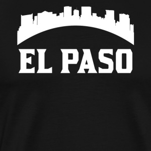 Vintage Style Skyline Of El Paso TX - Men's Premium T-Shirt