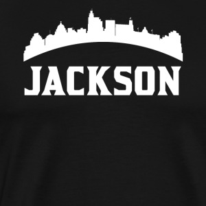 Vintage Style Skyline Of Jackson MS - Men's Premium T-Shirt