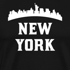 Vintage Style Skyline Of New York NY - Men's Premium T-Shirt