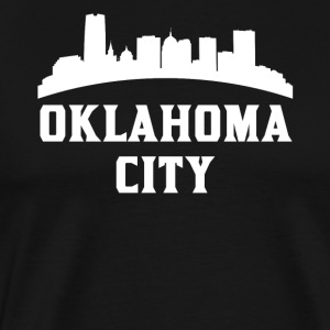 Vintage Style Skyline Of Oklahoma City OK - Men's Premium T-Shirt
