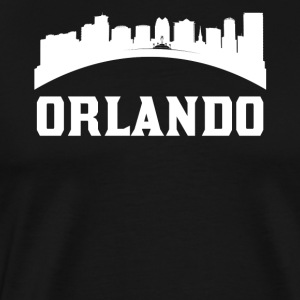 Vintage Style Skyline Of Orlando FL - Men's Premium T-Shirt
