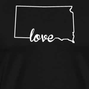 South Dakota Love State Outline - Men's Premium T-Shirt