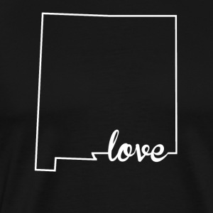 New Mexico Love State Outline - Men's Premium T-Shirt