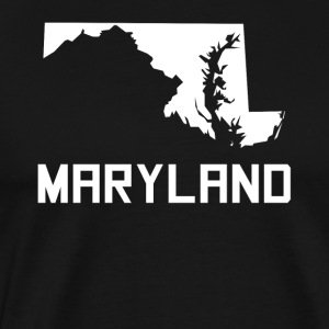 Maryland State Silhouette - Men's Premium T-Shirt