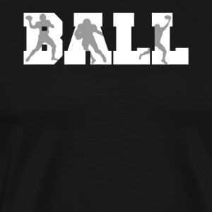 Ball Football Player Silhouettes Football - Men's Premium T-Shirt