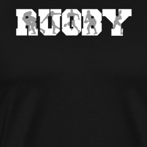 Rugby Rugger Silhouettes Rugby - Men's Premium T-Shirt