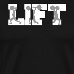 Lift Weightlifting Silhouettes Gym Fitness - Men's Premium T-Shirt