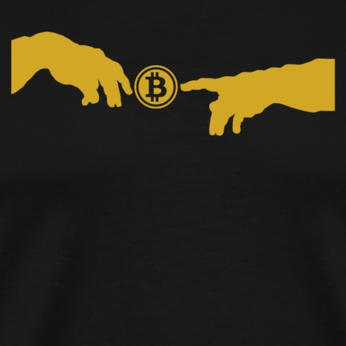 God Touched Bitcoin - Men's Premium T-Shirt