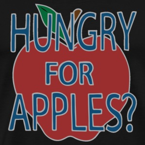 Hungry For Apples by Jerry Smith (Alt) - Men's Premium T-Shirt