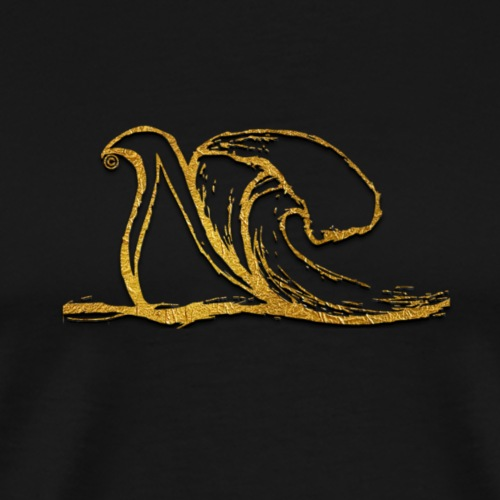 NUW4VE logo only with gold finish - Men's Premium T-Shirt