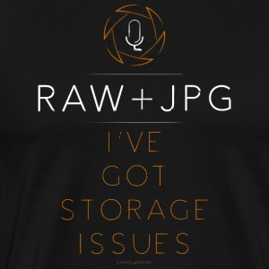 For the RAW+JPG Shooter - Men's Premium T-Shirt