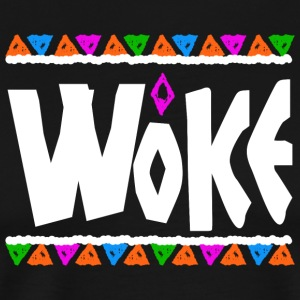 Woke - Tribe Design (White Letters) - Men's Premium T-Shirt