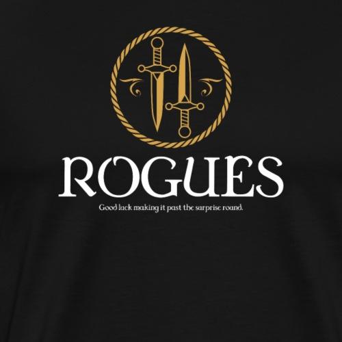 Rogue Meme Dragons in Dungeons Tabletop RPG - Men's Premium T-Shirt