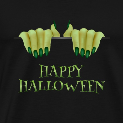 Happy Halloween Witch Pumpkin - Men's Premium T-Shirt