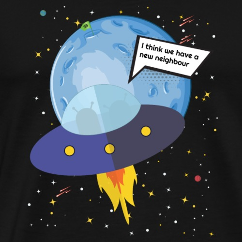 Planet Nine Discovery Outer Space T-Shirt - Men's Premium T-Shirt