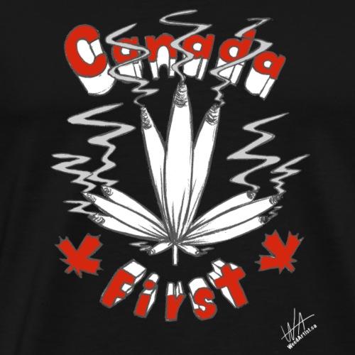 Canada First, Original Art by WeedArtist - Men's Premium T-Shirt