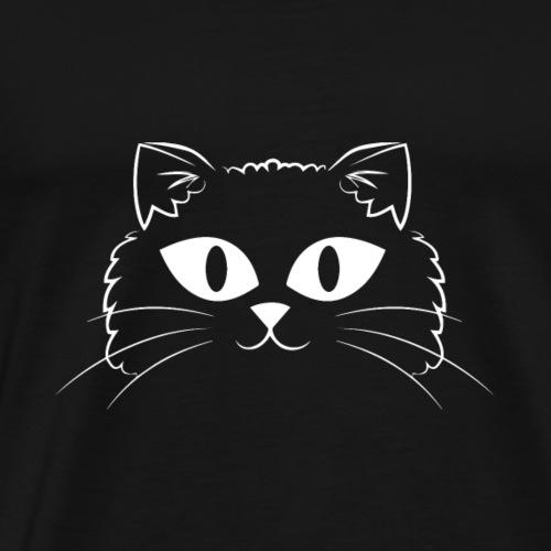Cat Face With Big Eyes - Men's Premium T-Shirt