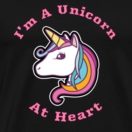 I'm a Unicorn At Heart Gift Idea - Men's Premium T-Shirt