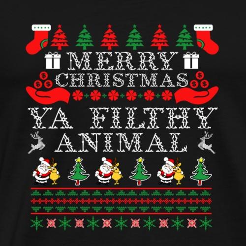 Merry Christmas Filthy Animal - Men's Premium T-Shirt