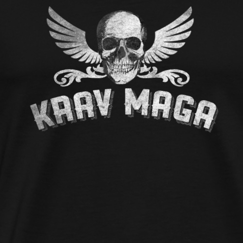 Cool Krav Maga Skull And Wing Design - Men's Premium T-Shirt