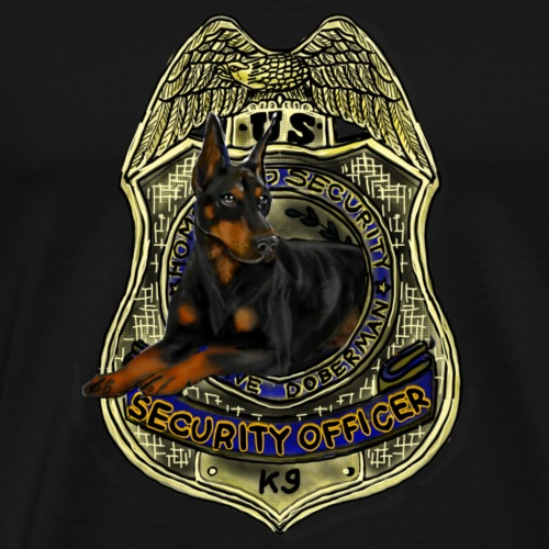 Doberman K9 Security Officer - Men's Premium T-Shirt
