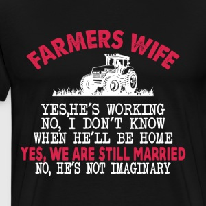 Farmer Wife T Shirt - Men's Premium T-Shirt