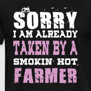 Smokin' Hot Farmer T Shirt - Men's Premium T-Shirt