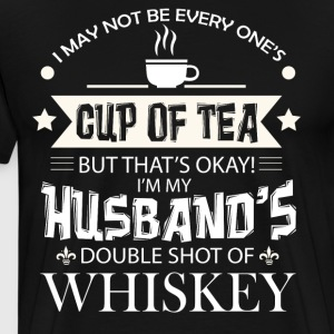 I'm My Husband's Double Shot Of Whiskey T Shirt - Men's Premium T-Shirt