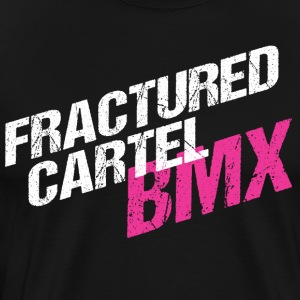 Fractured Cartel BMX White & Pink - Men's Premium T-Shirt