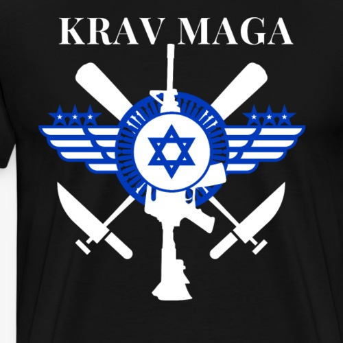 Krav Maga Sticks Knives Guns - Men's Premium T-Shirt