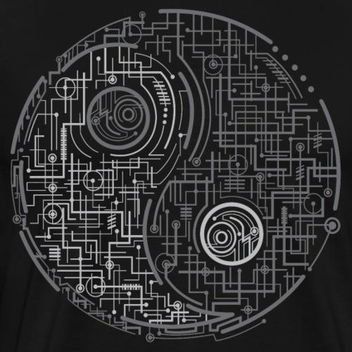 Electric Yin Yang - Men's Premium T-Shirt
