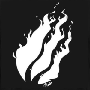 White Fire With Black Background - Men's Premium T-Shirt